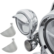 "Aftermarket free shipping motorcycle parts 1Pair 4.5"" Passing Lamp Visor SPOTLIGHT VISOR For harley davidson Touring Dyna Sports"