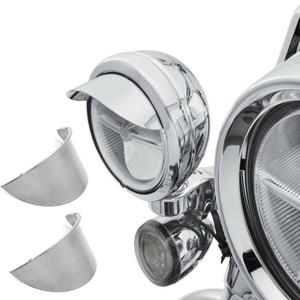 "Image 1 - Aftermarket free shipping motorcycle parts 1Pair 4.5"" Passing Lamp Visor SPOTLIGHT VISOR For harley davidson Touring Dyna Sports"