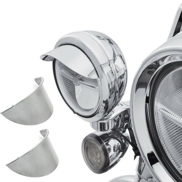 "Aftermarket free shipping motorcycle parts 1Pair 4.5"" Passing Lamp Visor SPOTLIGHT VISOR For harley davidson Touring Dyna Sports"