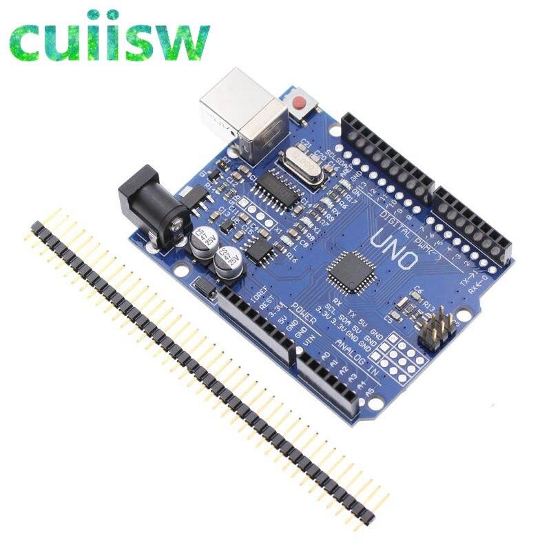 Плата UNO R3 UNO для arduino (совместимая) UNO MEGA328P CH340, 5 шт., без USB-кабеля