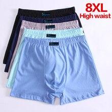 5 יח\חבילה גברים של מתאגרף Pantie Underpant בתוספת גודל XXXXL גודל גדול מכנסיים קצרים לנשימה כותנה תחתונים 5XL 6XL 7XL 8XL מתאגרף זכר
