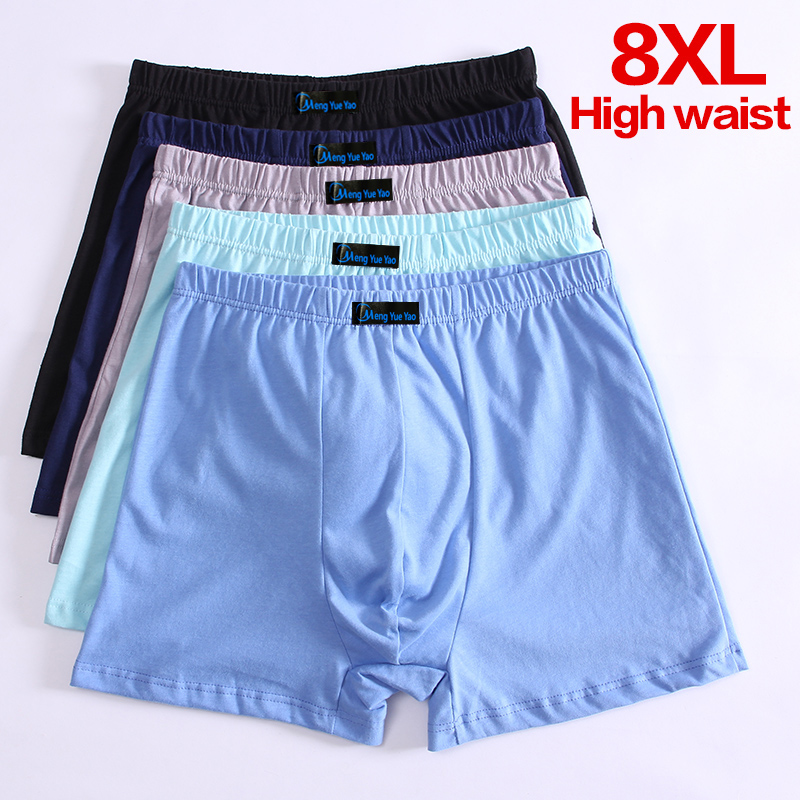 5pcs/lot Men's Boxer Pantie Underpant Plus Size XXXXL Large Size Shorts Breathable Cotton Underwear 5XL 6XL 7XL 8XL Boxer Male