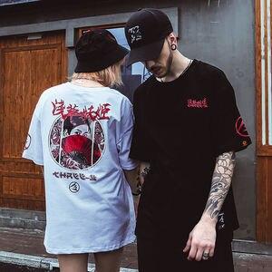 Image 5 - 2019 Harajuku camiseta Streetwear hombres japonés Camiseta Ukiyo E Geisha Hip Hop verano Camiseta de algodón de manga corta Camisetas Hipster