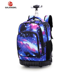 18 بوصة المتداول على ظهره السفر حقائب مدرسية على عجلة عربة حقيبة مدرسية للمراهقين بنين الأطفال حقيبة مدرسية مع عجلات