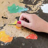 1 Pcs Scratch Mappa Del Mondo Mappa Cancellabile Creativo Decorazione Della Casa Della Parete Adesivi Colorati Carta Decorativa Mini