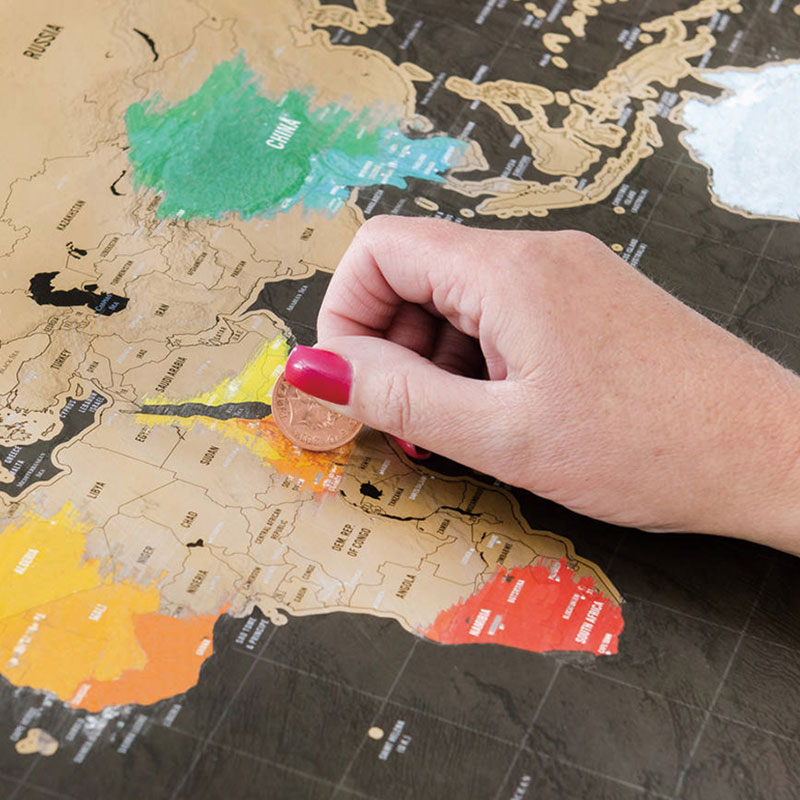 1pcs Scratch Map World Travel Map Erasable Creative Home Decoration Wall Stickers Colorful Decorative Map Mini