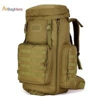 Military Travel Backpack 70 to 85L Large Capacity Adjustable Multifunction Hiking bags Nylon pack Tactical Molle System Rucksack