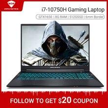 Machenike T90 i7 gaming laptop 2020 Intel Core i7 10750H GTX1650 4G GDDR6 8GB RAM 512G SSD 15.6 6mm Border IPS i7 notebook