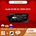 Автомобильный мультимедийный плеер COIKA, Android 10, 2 + 32 гб озу, wi-fi, Google BT, IPS, для Audi A4 B8 A5 2009-2017