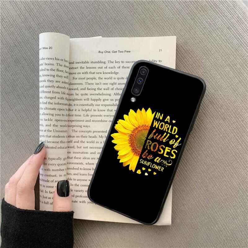 MaiYaCa ดอกไม้สีเหลืองสวย Sunflower สำหรับ Samsung Galaxy A7 A50 A70 A40 A20 A30 A8 A6 A8 PLUS a9 2018