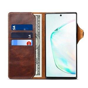 Image 3 - Brieftasche Fall Für Samsung Galaxy Note 20 Ultra S20 Plus S8 S9 S10E S10 5G Hinweis 10 8 9 echtes Leder Flip Cover Handgelenk strap Fall