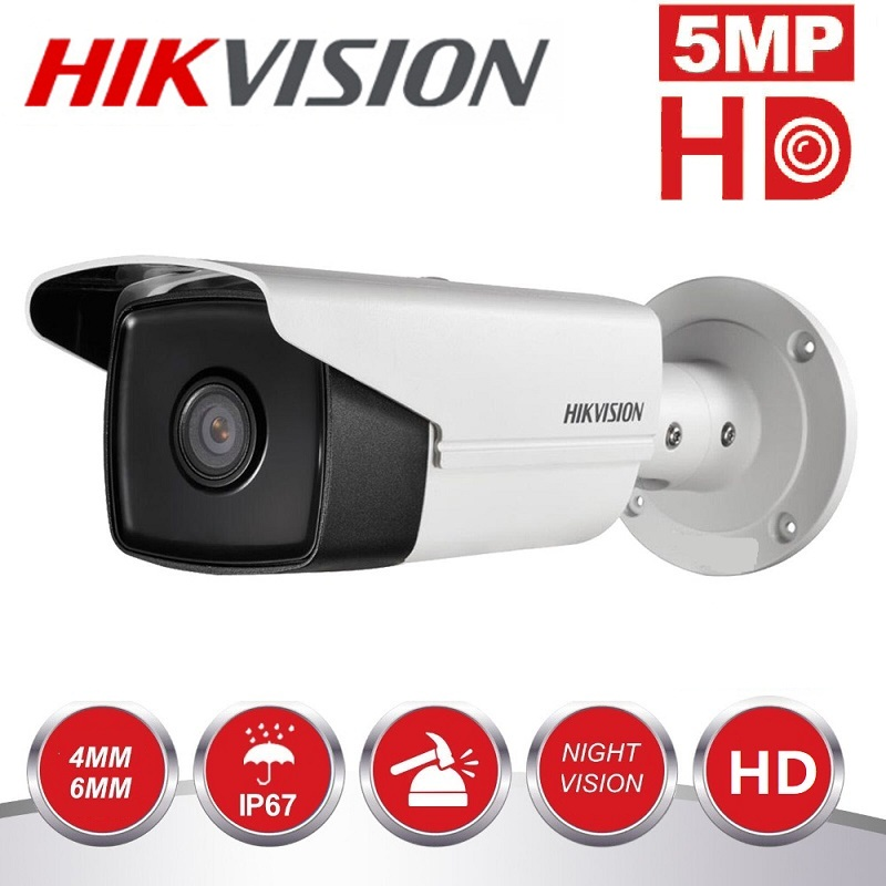 HIKVISION 5MP Night Vision  Camera DS-2CE16H0T-IT3F Turbo HD  IR TVI/AHD/CVI/CVB Switchable IP67 Waterproof Security Camera