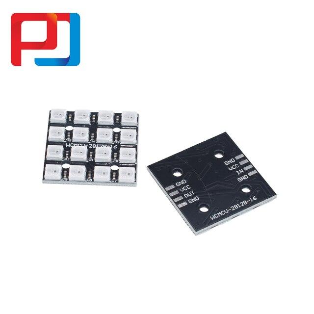 1 قطعة X RGB LED 4x4 16Bit WS2812 5050 RGB LED + السائقين المتكاملة