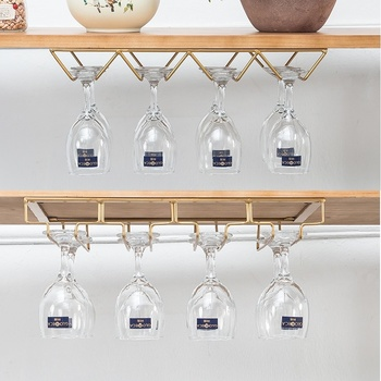 Creative Upside-down High-footed Glass Rack For Red Wine Nordic Tieyi Hanging Red Wine Rack Creative Wine Cabinet