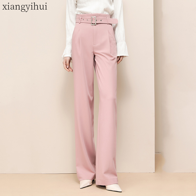 High Waisted Women Pink Pants Plus Size 2XL 3XL <font><b>4XL</b></font> Office Ladies Long Trousers Fashion Black Beige Full Length <font><b>pantalones</b></font> <font><b>mujer</b></font> image