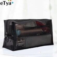 ETya 1 шт., женская и мужская косметичка, прозрачная, для путешествий, модная, маленькая, большая, черная, для туалетных принадлежностей, органайзер, сумки, чехол