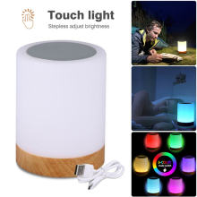 Rechargeable Led Touch Night Light Innovative Little Table Bedside Lamp 7 colorful warm Lights adjustable