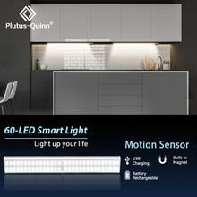 24/40/60 LEDs PIR LED Motion Sensor Licht USB Aufladbare LED Unter Schrank Nacht Licht Für Küche Schrank Schrank treppen