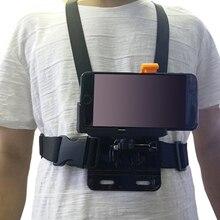 Gosear regulowany uprząż do montażu w klatce piersiowej pasek w/telefon szybkie zacisk mocujący dla iPhone GoPro Hero 6 4 3 + SJCAM YI akcesoria do kamery