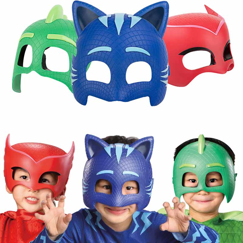 Pj Masks Toy Sports Model Mask Three Different Color Mask Connor Greg Amaya Figures Anime Outdoor Fun Toys For Children Gift