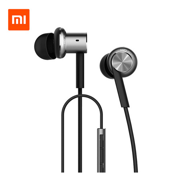 <font><b>Original</b></font> <font><b>Xiaomi</b></font> Hybrid Pro HD High Definition Earphone In-Ear HiFi Earphones Mi Piston4 With Mic Circle Iron Mixed For Redmi Pro image