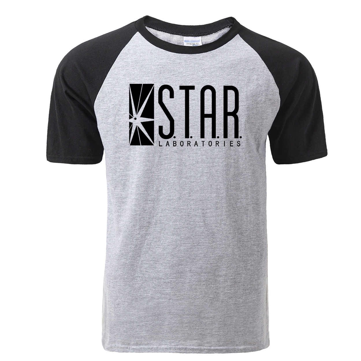 Fashion STAR Labs Raglan T Shirt Men Summer Jumper The Flash Gotham City Comic Books Superman Tv Series T-shirt Streetwear Tees image