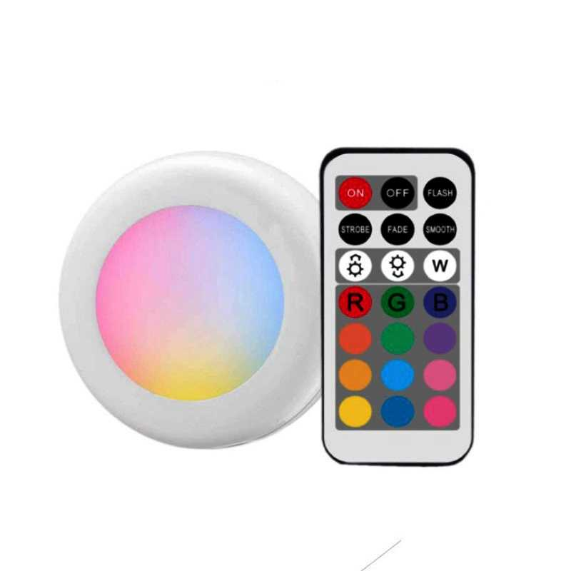 Wireless Multicolor Dimmable RGB Cabinet Light Remote Control Touch Sensor Closet Led For Wall Wardrobe Stair Hallway Night lamp