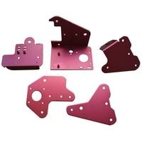 5Pcs Creality 3D Extruder Zurück Platte + X Motor Front & Back Platte + Z Achse 2 5mm & 3 0mm Passive Block Platte Kit für CR 10S PRO-in Drucker-Teile aus Computer und Büro bei