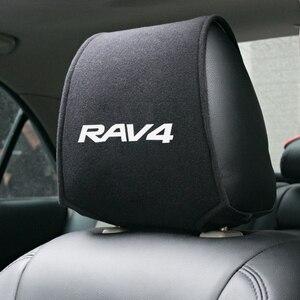 Image 1 - Car Styling per Toyota RAV4 Accessori Auto poggiatesta copertura 1pcs