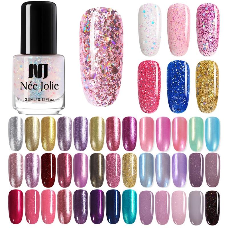Лак для ногтей NEE JOLIE, 73 цвета, розовое золото, блестки для ногтей, цветной лак для ногтей, лак для дизайна ногтей своими руками, 3,5 мл