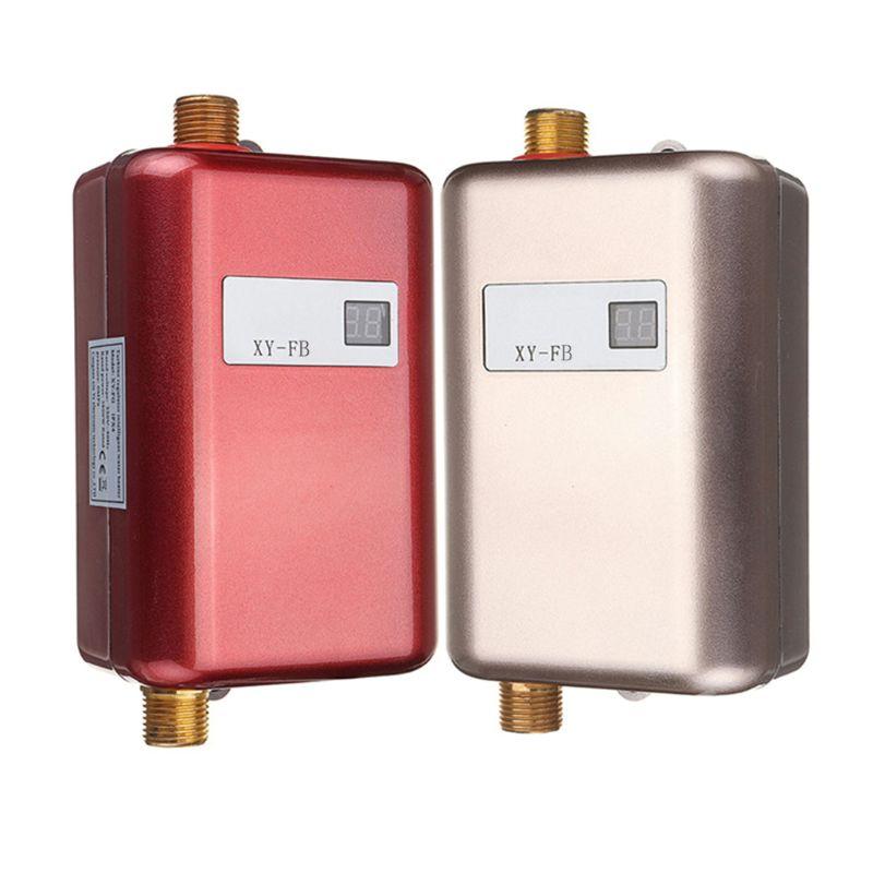 3800W chauffe-eau Mini sans réservoir instantané robinet chaud cuisine chauffage Thermostat US Plug Intelligent économie d'énergie étanche
