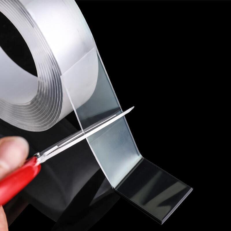 Купить волшебная нано лента прозрачная моющаяся многоразовая двусторонняя