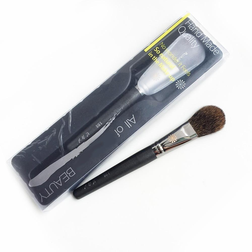 pa 108 blush brush esquilo cabelo liso blush po escova beleza maquiagem escova liquidificador