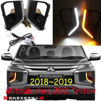 1set Bumper headlight for Mitsubishi Triton daytime light 2018~2019y car accessories LED DRL headlamp for Triton fog light|Car Light Assembly| |  -