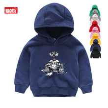 Wall-E Eve Robot Couple Cartoon Funny Hoodies Gifts for Children New Breathable & Sweatshirt Kids Long Sleeves 2T-8T