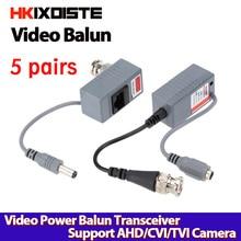 2pc BNC Connector Coaxial Cable Adapter CCTV Camera Passive Video Balun Transceiver Connector free shipping