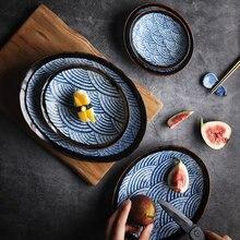 RHE – assiette ovale en céramique, gâteau à Dessert, assiette en porcelaine, cuisine, grande assiette, décoration de la maison, ensemble de dîner