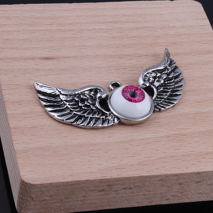 2019 Korean Fashion Two Wings Eyes Hip-hop Long Chain Pendant Necklace For Women Men Party Club Gothic Long Necklace Women Gift