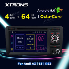 XTRONS Android 9.0 PX5 Auto Radio Stereo Dvd-speler GPS OBD TPMS Voor Audi A3 8P 2003-2012 s3 8P 2006-2012 RS3 Sportback 2011 2012(China)