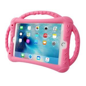 Image 4 - Do iPada 10.2 2019 2020 etui silikonowe, odporne na wstrząsy dzieci nietoksyczne etui z podstawką dla dzieci do iPada 7th 8th Generation Kickstand Shell