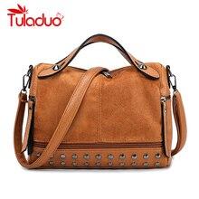 Bags For Women Shoulder Bag Female Vintage Women Handbag Lady Small Crossbody Bags Leather Rivet Doctor Tote Bag bolso mujer