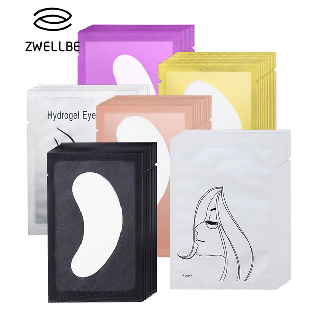 50/100 Pairs/Pack Pink Women Under Eye Pads Patches Eyelash Extension Eye Lash Paper Stickers Patches Application Make Up Tools