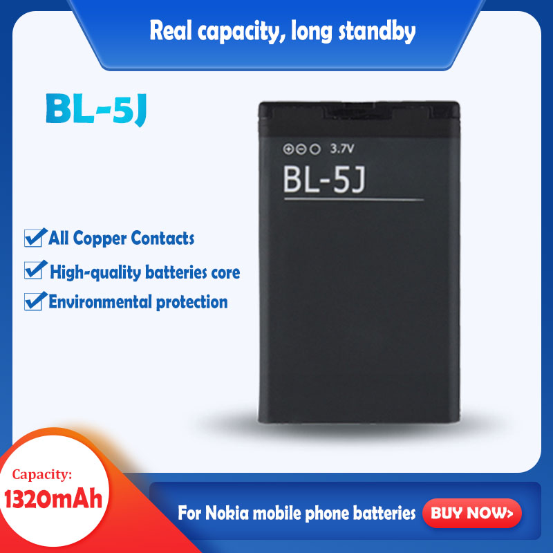 100% Original Rechargeable Battery BL-5J BL 5J For Nokia N900 Lumia 520 521 525 5230 5233 5228 5238 5800 5800XM 5802 X6 X9 200(China)
