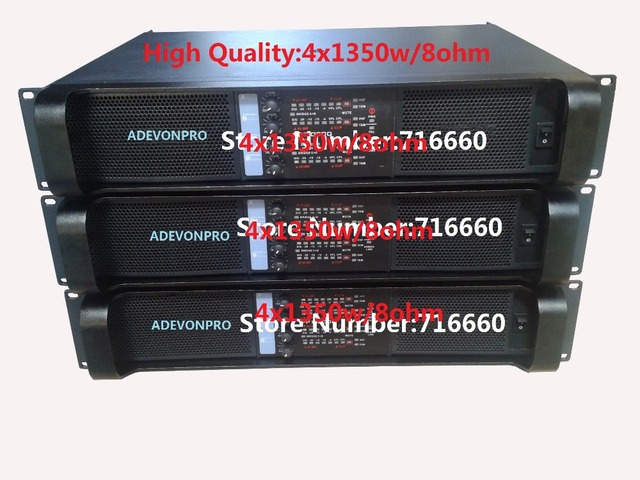 2pcs high quality FP10000Q amplifier,4x1350w/8ohm rms