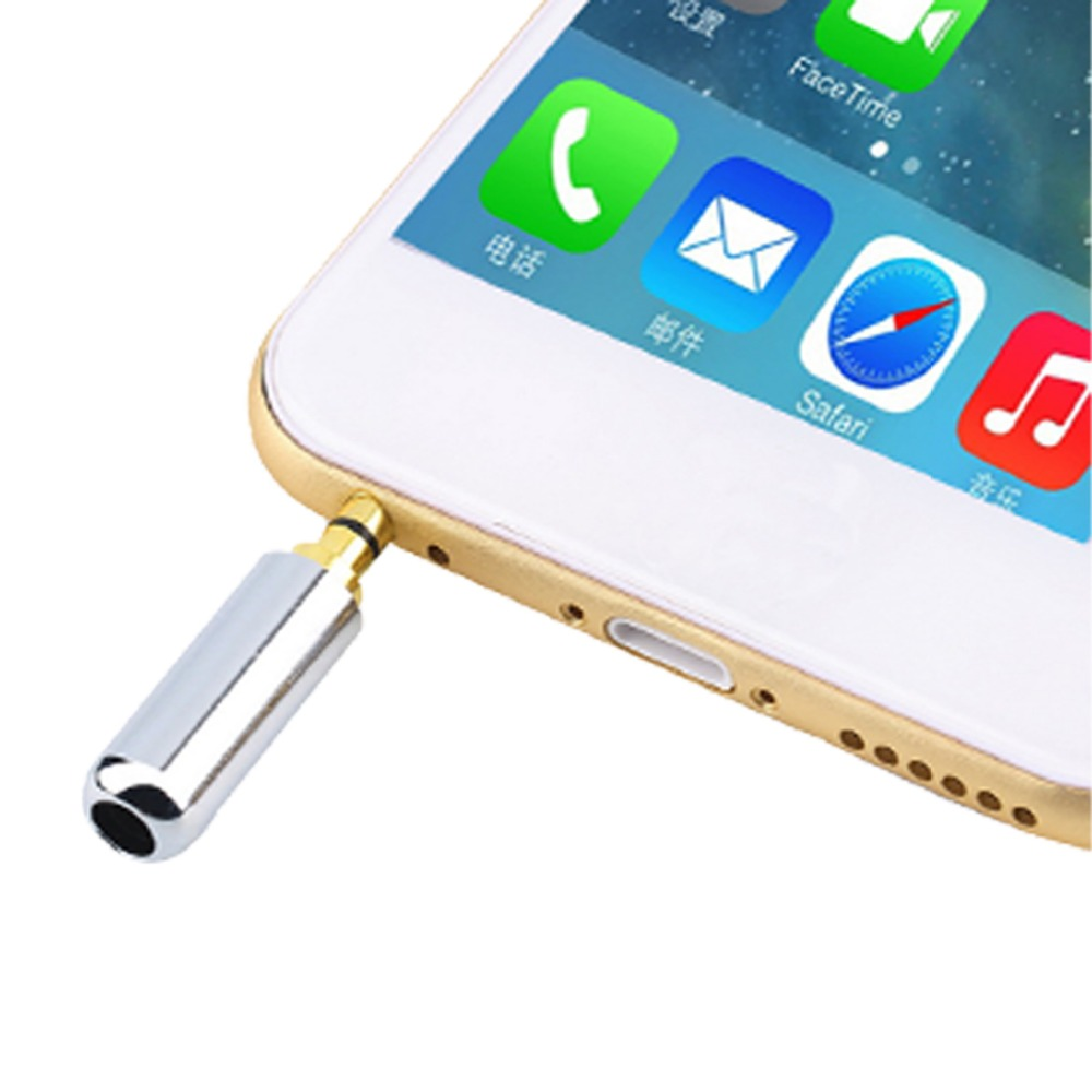 1pc Sliver 4 Pole 3.5mm Male Repair Headphone Jack Plug Metal Audio Soldering Cover New Arrival