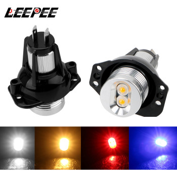 LEEPEE 2pcs Auto Fog Lamp DC 12V Car Lamps Decorative Lights Error Free LED Angel Eyes Marker Light Bulbs for BMW E90 E91 image