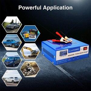 Умный автоматический автомобильный аккумулятор, зарядное устройство 130 в 250 В до 12 в 24 В 200 ач светодиодный дисплей для автомобиля, грузовика, лодки, мотоцикла, свинцово-кислотный гель