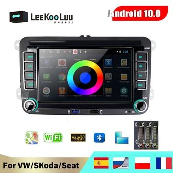 Автомагнитола LeeKooLuu, 2 Din, Android 8,1, мультимедийный плеер, GPS, стерео для VW Skoda Seat Octavia golf 5 6 touran passat B6 B7 Jetta