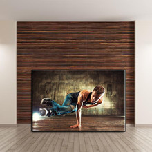 Passionate street breakdance high-definition copy on canvas, the favorite of street dance lovers is modern home decoration