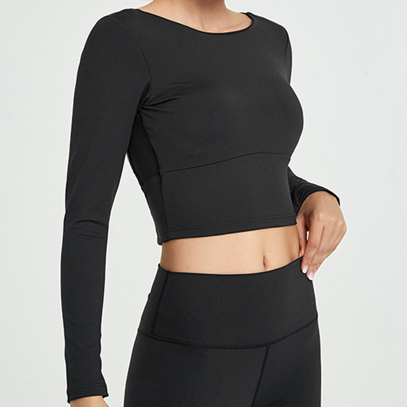 costas yoga camisa de manga longa camisas